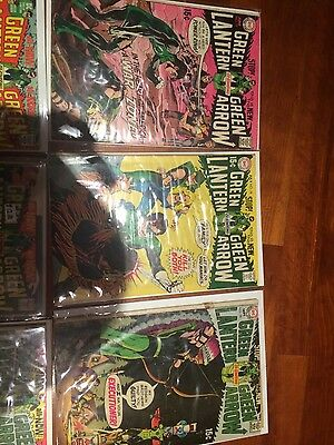 Green lanter/green arrow comics issues 77 through 89