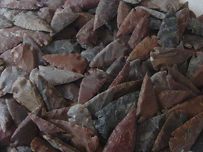 5 @ 2 inch arrowhead from bulk pile mixed colors replica natural arrowheads ee5