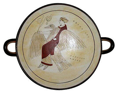 Ancient Greek Kylix Vase Museum Replica Reproduction