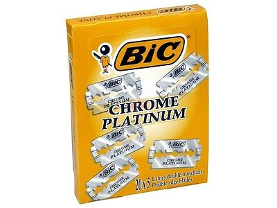 100 Lame Da Barba Bic Chrome Platinum Alta Qualita' Lametta Barbiere Lama
