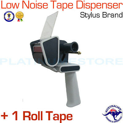 1 x Low Noise Heavy Duty Commercial Packing Tape Dispenser Gun + 1 Roll Tape