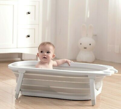 Karibu Baby Folding Bath Silver Award Winning Newborn to Toddler Fold Away- Blue