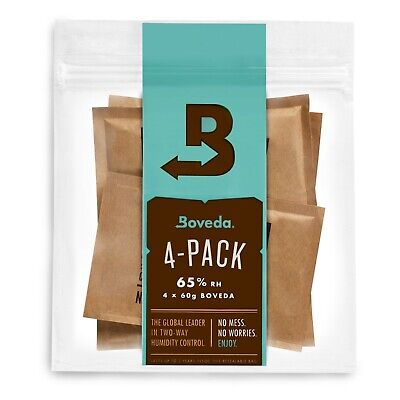 Boveda 65% RH 2-Way Humidity Control, Large 60 gram, 4-Pack