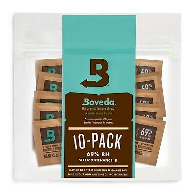 Boveda 69% RH 2-way Humidity Control, 8 gram - 10 Pack