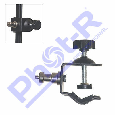 "Phot-R Photo Studio C Clamp Clip 1/4"" Thread Screw 5/8"" Stud Spigot Holder"