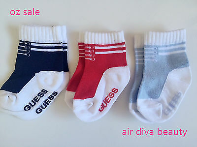 Infant Baby Boys Girls Children Kids Guess Blue Cute short shoes Socks 0-2years