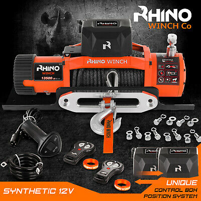 12v 4 x 4 Recovery Winch 13500LB Not 13000lb DYNEEMA SYNTHETIC ROPE + PLATE =