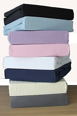 Jersey Fitted Sheet 100% Cotton, Cot Bed / Toddler Bed, 60x120cm, Supersoft New