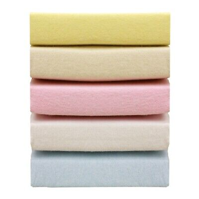 Travel Cot 100% Soft Cotton Jersey Fitted Sheet Toddler Bed Size 95 cm x 65 cm,