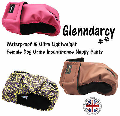 Glenndarcy Female Dog Urine Incontinence Nappy Pants - Only Xs & Xxxl Left -Sale