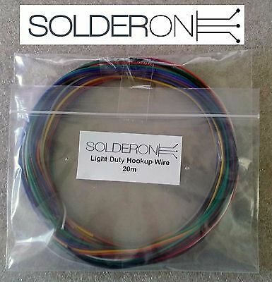 20m Hookup Wire Light Duty Pack - Mixed Colours - AU STOCK