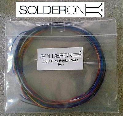 10m Hookup Wire Light Duty Pack - Mixed Colours - AU STOCK