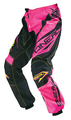 Oneal NEW 2016 Youth Mx Gear Element Black Pink Yellow BMX Motocross Girls Pants