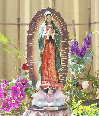 """Rare Catholic Our Lady Of Guadalupe Resin Statue Mary 13"""""""
