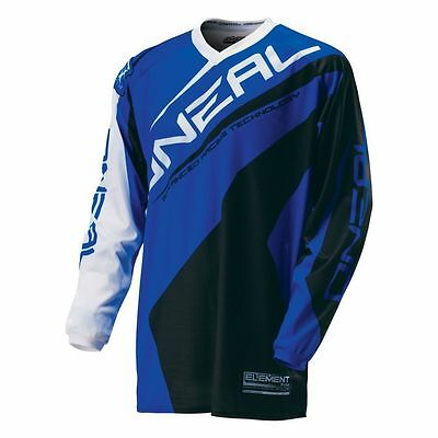 Oneal NEW 2016 Mx Youth Element Blue Black BMX Motocross Dirt Bike Kids Jersey
