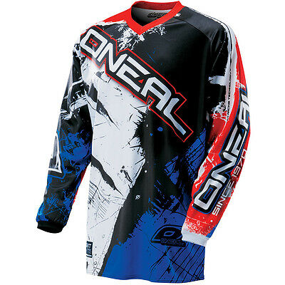 Oneal NEW 2017 Mx Youth Element Shocker Black Blue Red BMX Motocross Kids Jersey