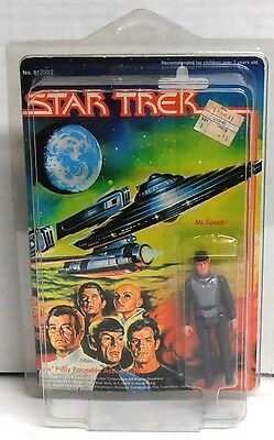 "1979 Mego Star Trek Mr. Spock Action Figure 3 3/4"" in Protective Case MIP"