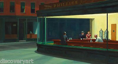 Nighthawks by Edward Hopper 1942 Stretched Canvas Wall Art Poster Print Artist