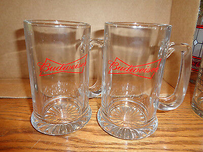 2 - Budweiser Beer Mugs