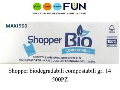 Shopper Biodegradabili Compostabili Maxi Pz 500