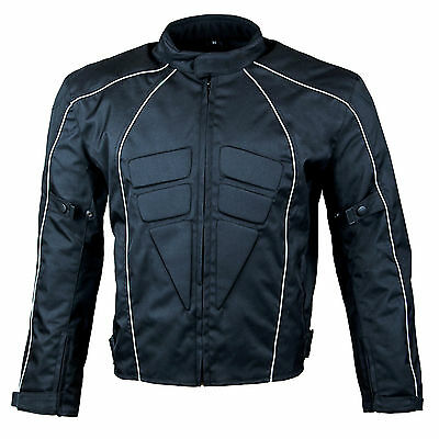 Men's Armoured Waterproof Cordura Textile Short Motorcycle Motorbike Jacket