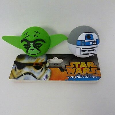 STAR WARS Yoda R2D2 - 2 Pack Antenna Toppers Pencil Toppers - NEW