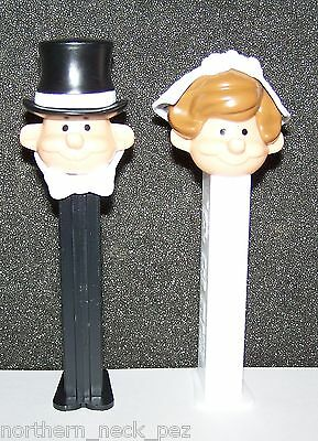 Pez Dispenser~~Bride and Groom~~Set of 2~~Mint in Bags.-.