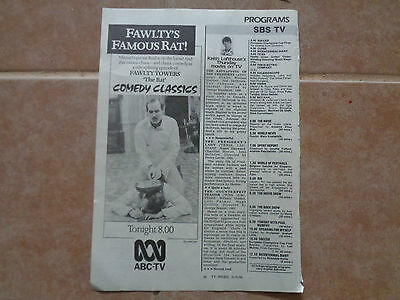 Fawlty Towers tv show ad_MAGAZINE CLIPPINGS_ships from AUS!_14n