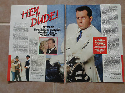Bruce Willis_Home And Away_MAGAZINE CLIPPINGS_ships from AUS!_14o