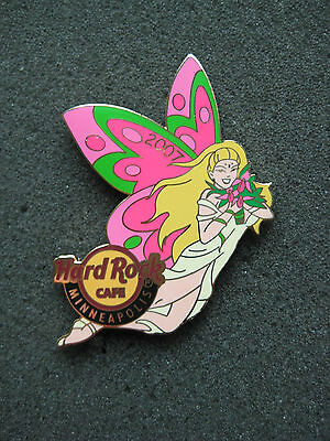 Hard Rock Cafe Pins - MINNEAPOLIS HOT 2007 STATE FLOWER BUTTERFLY GIRL!