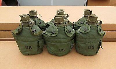 US MILITARY 1 QUART CANTEENS & OLIVE DRAB COVERS [Qty/6] ~GENTLY~USED~