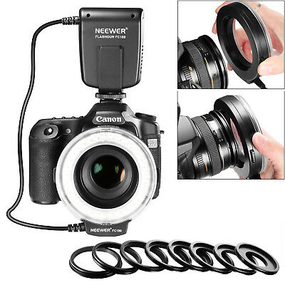 Neewer FC-100 LED Macro Ring Flash Light for Canon Nikon Olympus Pentax Cameras