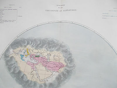 Map of Alexander the Great Empire. 1846. Original. WORLD