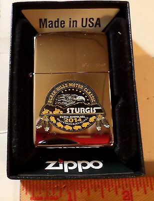 2014 Sturgis Zippo lighter numbered #168 motorcycle rally collectible souvenir