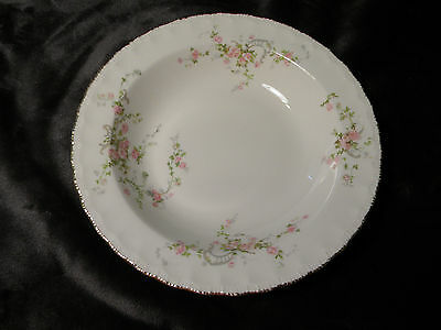 Pope Gosser China Soup Bowl Scalloped Pattern Pink Roses, excellent condition