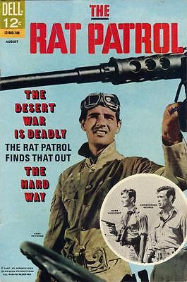 The Rat Patrol #4 - Aug. 1967 - F (Dell)  Photo Cover