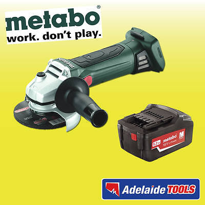 "Metabo 18V 125mm(5"") Cordless Angle Grinder With 5.2Ah Li-ion Battery - W18LTXSK"