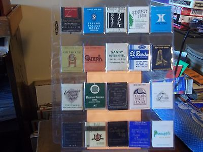 vintage lot of 9 matchbook's, Hotel's and Motel's #2