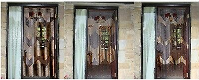 Bamboo Door Screen Curtain Beaded Insect Blind Fly Bug Wooden Assorted Design