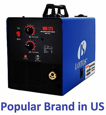 Lotos Mig175  Mig Welder aluminum Gas/Gasless with free Spool Gun