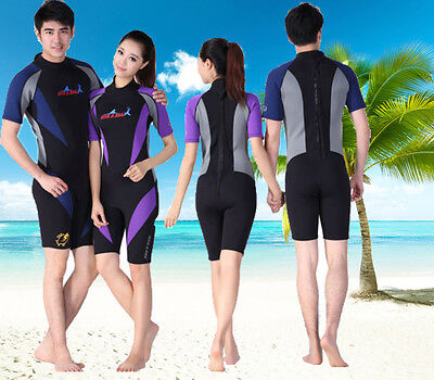 1.5mm Swimming Snorkeling Wetsuit Diving Jump Suits Short Suit Warm Jumpsuit