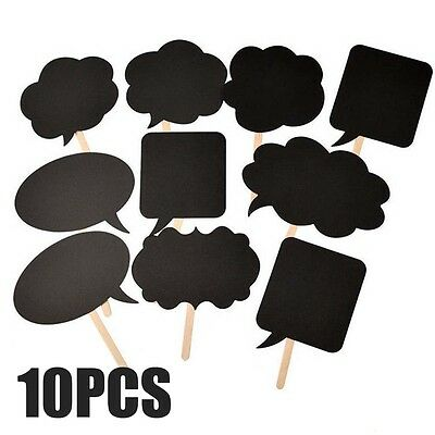 10 pcs DIY Wedding Birthday Married Party Photo Booth Photobooth Props Mask AUOZ