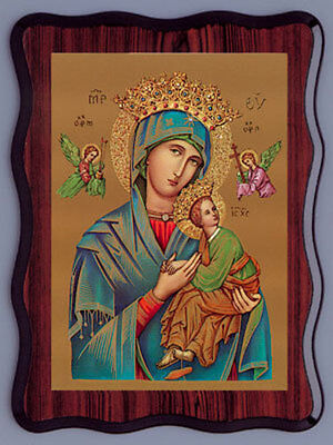 Lady Of Perpetual Help Picture Catholic Religious Candles & Statues Also Listed