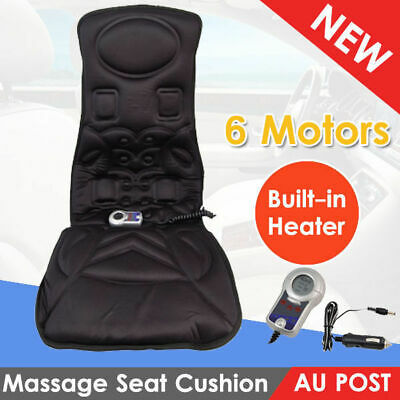6 Motor Massage Seat Pad Cushion Car Massager Chair Back with Built-in Heater AU
