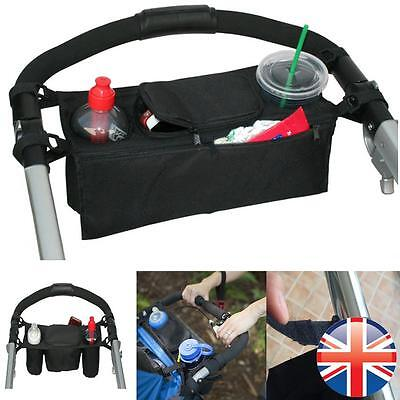 *UK Seller* Universal Baby Pushchair Buggy Organiser Storage Bag Cup Holder