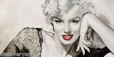 Marilyn Monroe Red Lips Canvas Wall Art Movie Poster Printed Painting Model Icon