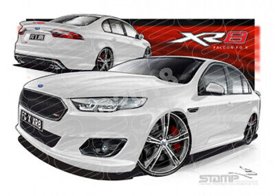 XR8 FG X XR8 FALCON FGX XR8 WINTER WHITE  STRETCHED CANVAS (FT370)-New_Itemq