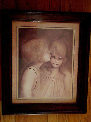 Home Interior Vintage picture by Margaret Kane first Kiss