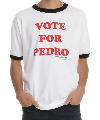 Adult Men's Napoleon Dynamite Comedy Movie Vote for Pedro White T-shirt Tee