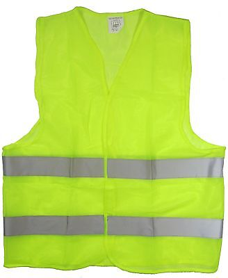 Reflective Safety Vest Yellow with Strips  Work Construction Traffic & Warehouse